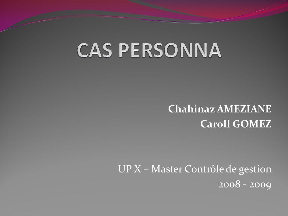 CAS PERSONNA Chahinaz AMEZIANE Caroll GOMEZ