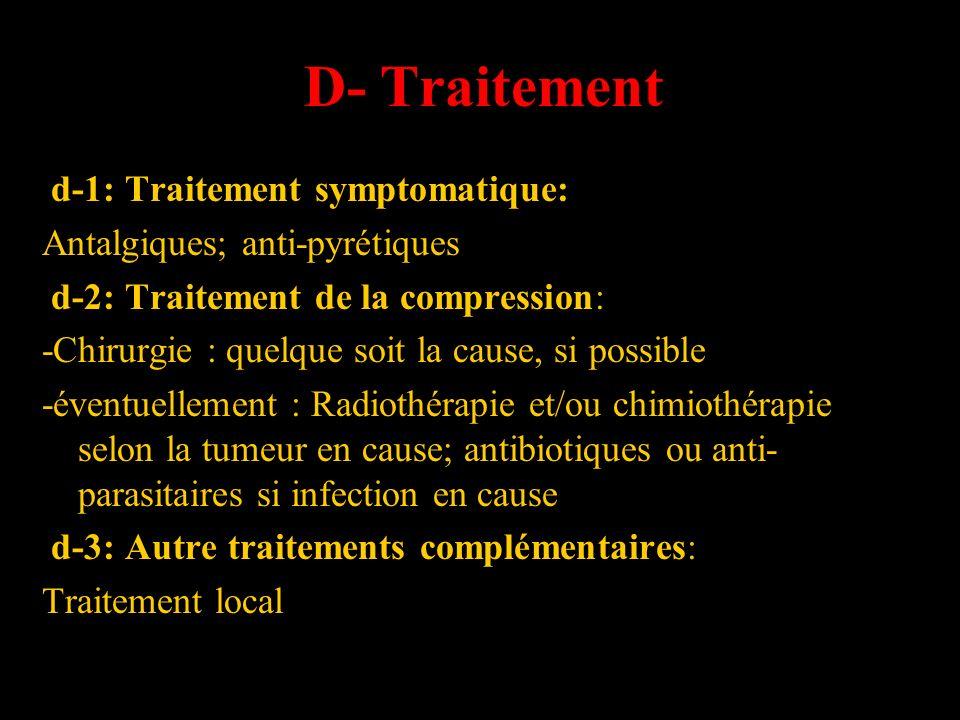 D- Traitement d-1: Traitement symptomatique: