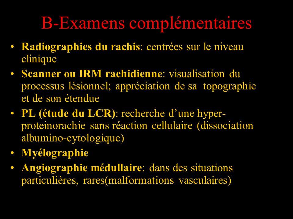 B-Examens complémentaires