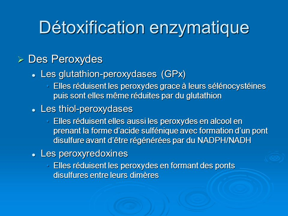 Détoxification enzymatique