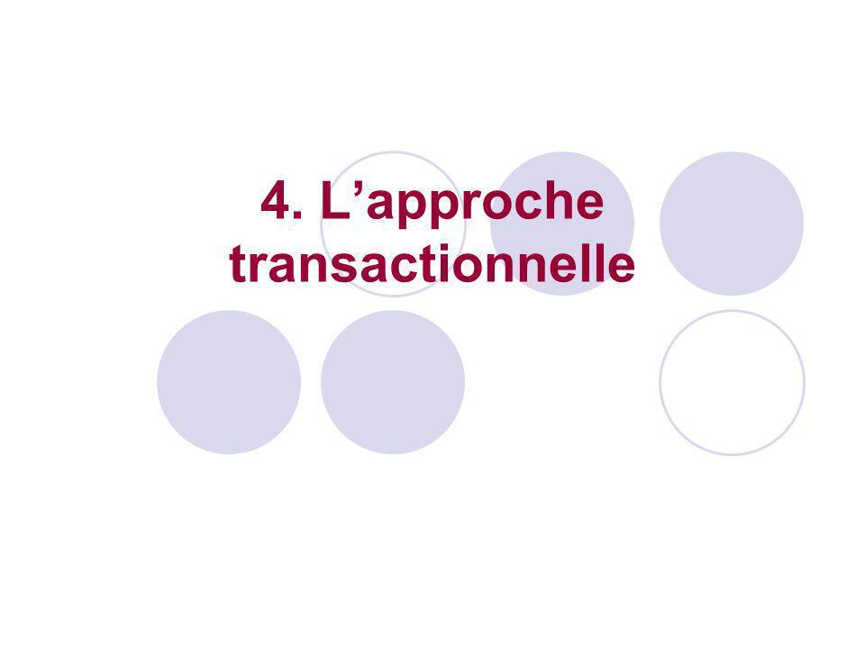 4. L'approche transactionnelle