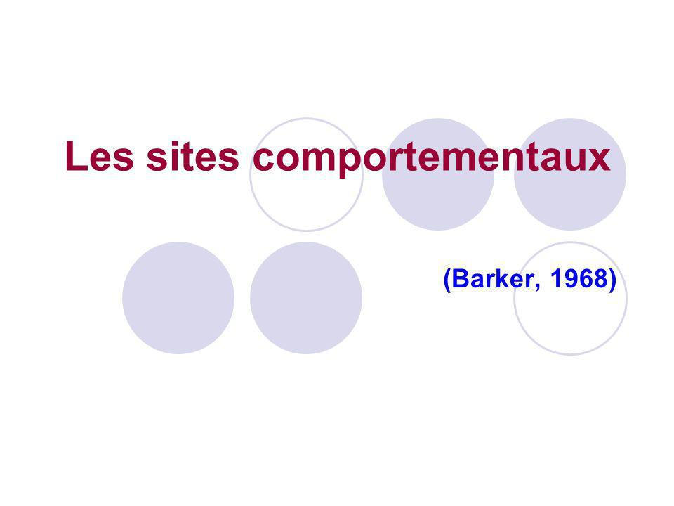 Les sites comportementaux