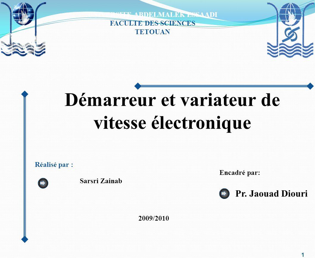 Démarreur et variateur de vitesse électronique