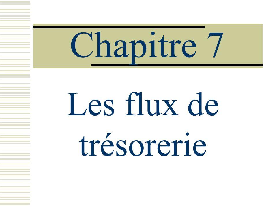 Chapitre 7 Les flux de trésorerie