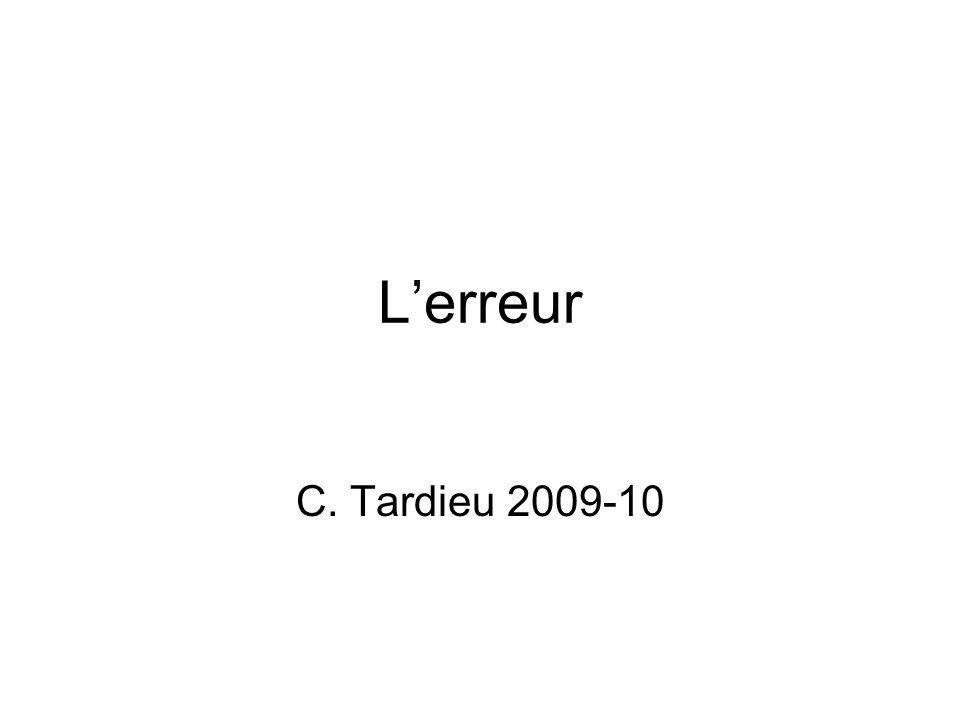 L'erreur C. Tardieu 2009-10