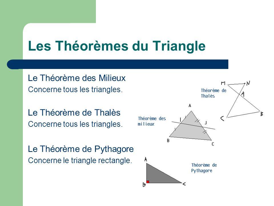 Les Théorèmes du Triangle