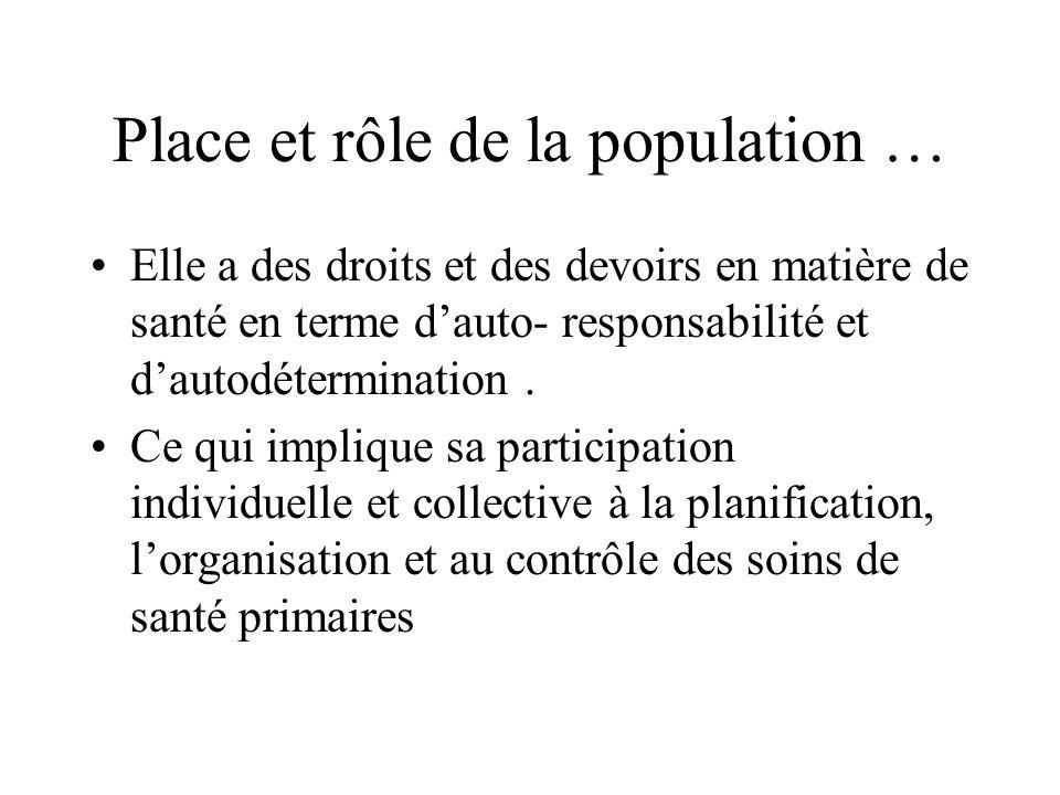 Place et rôle de la population …