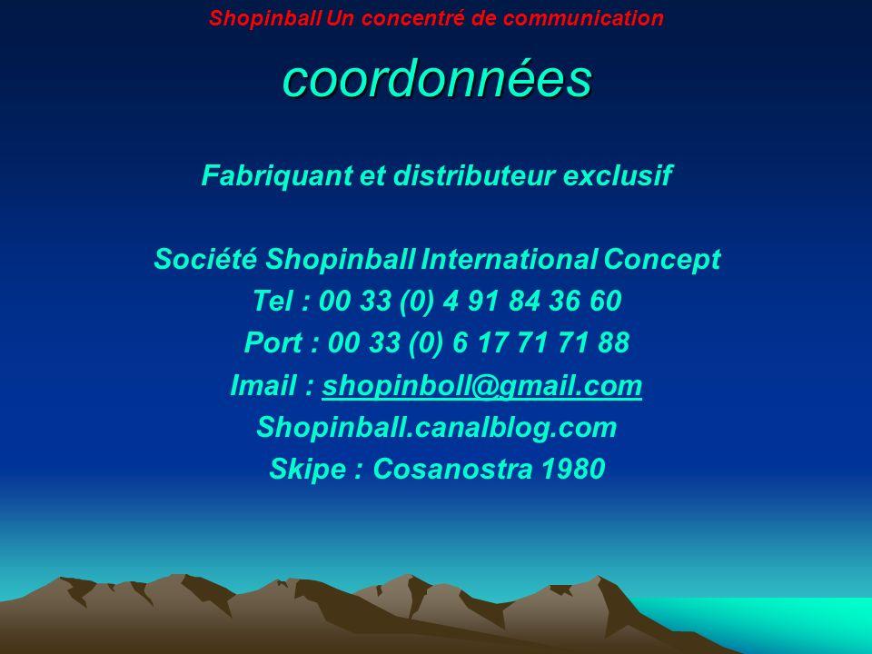 coordonnées Fabriquant et distributeur exclusif