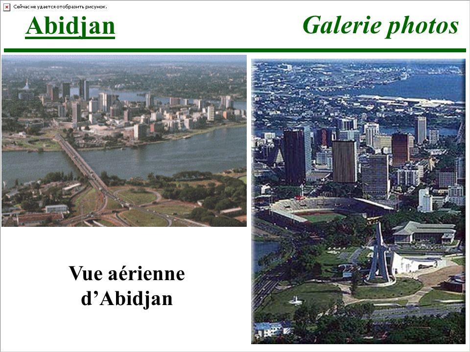 Vue aérienne d'Abidjan