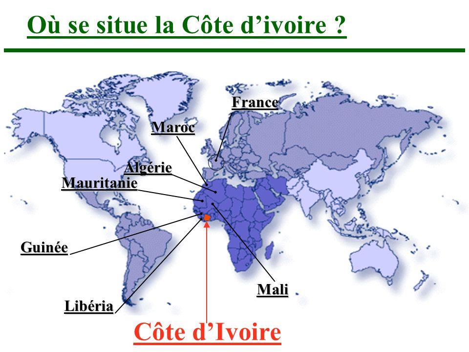 Où se situe la Côte d'ivoire