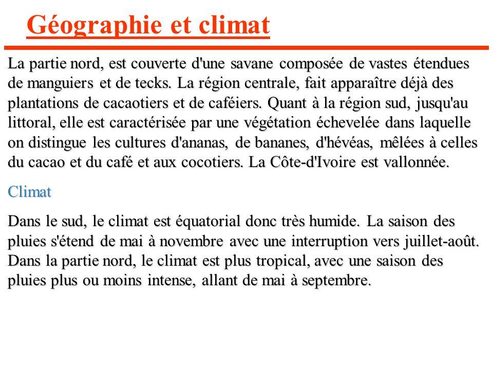 Géographie et climat
