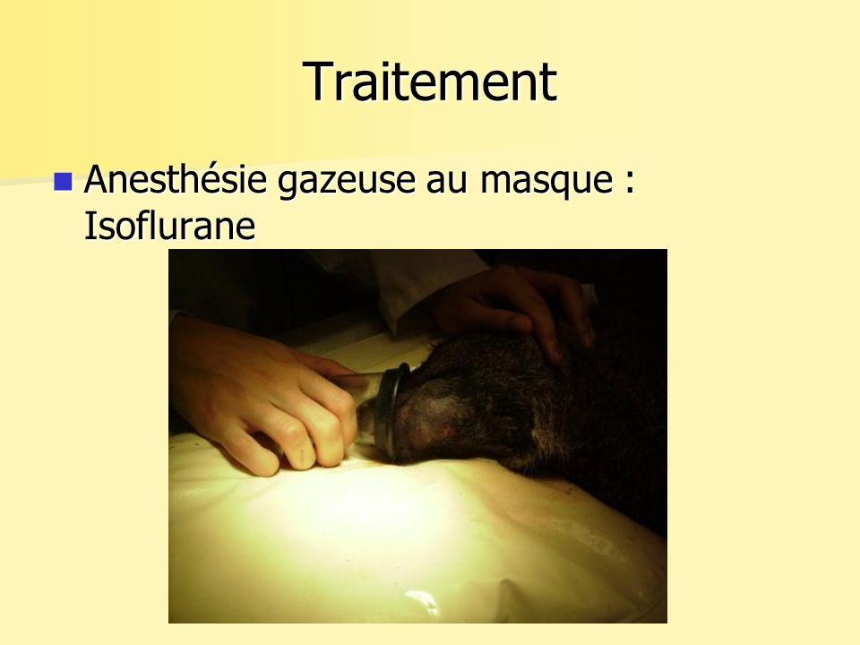 Traitement Anesthésie gazeuse au masque : Isoflurane