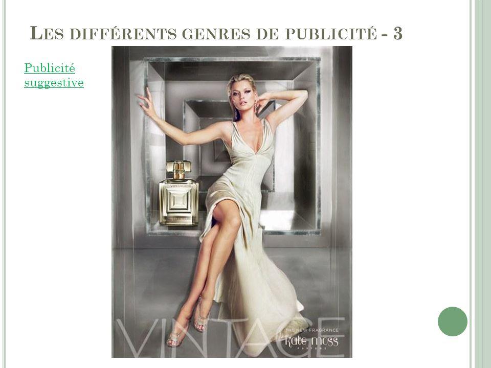 Les différents genres de publicité - 3