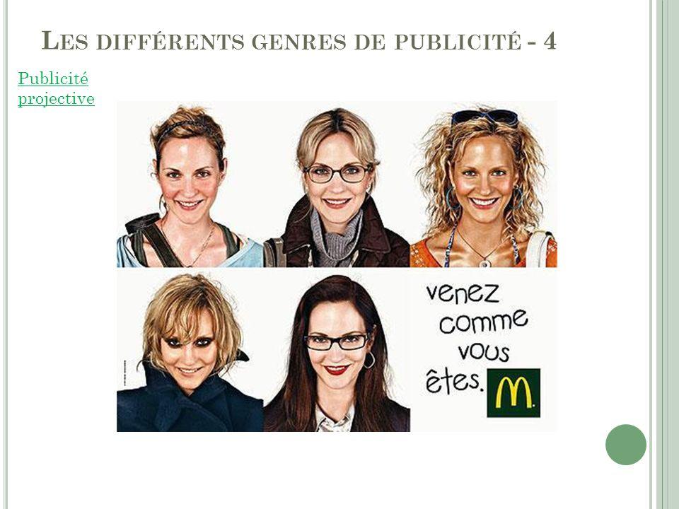 Les différents genres de publicité - 4