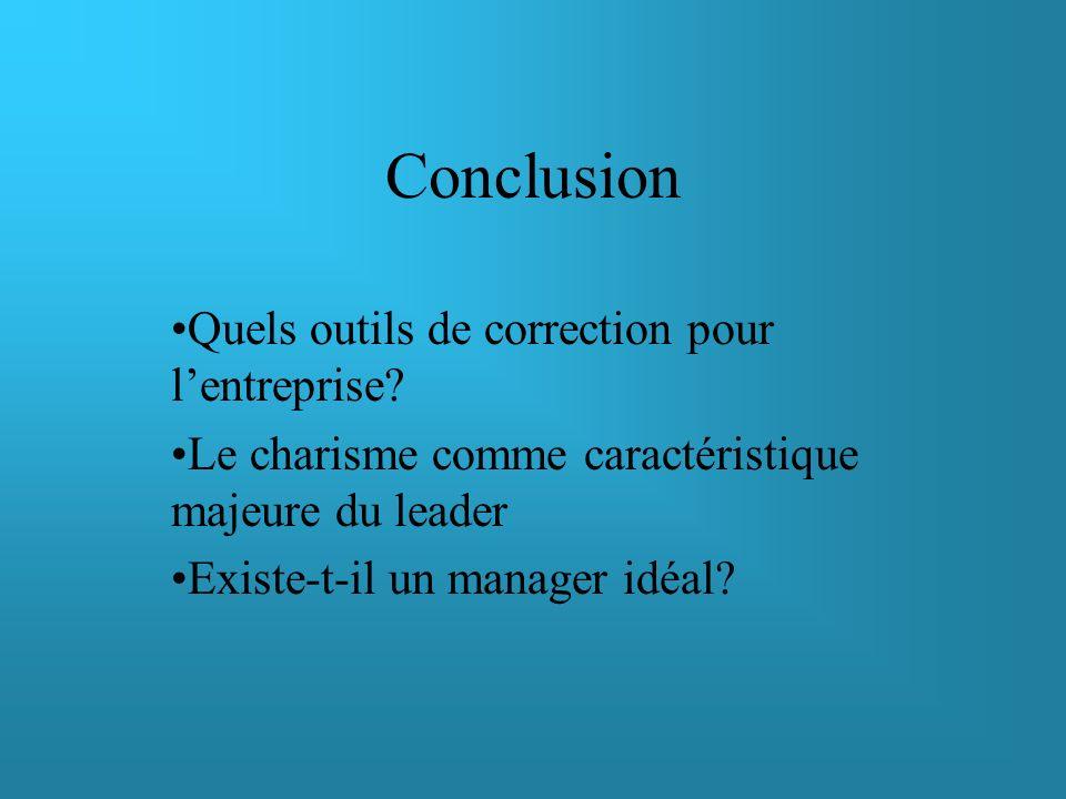 Conclusion Quels outils de correction pour l'entreprise
