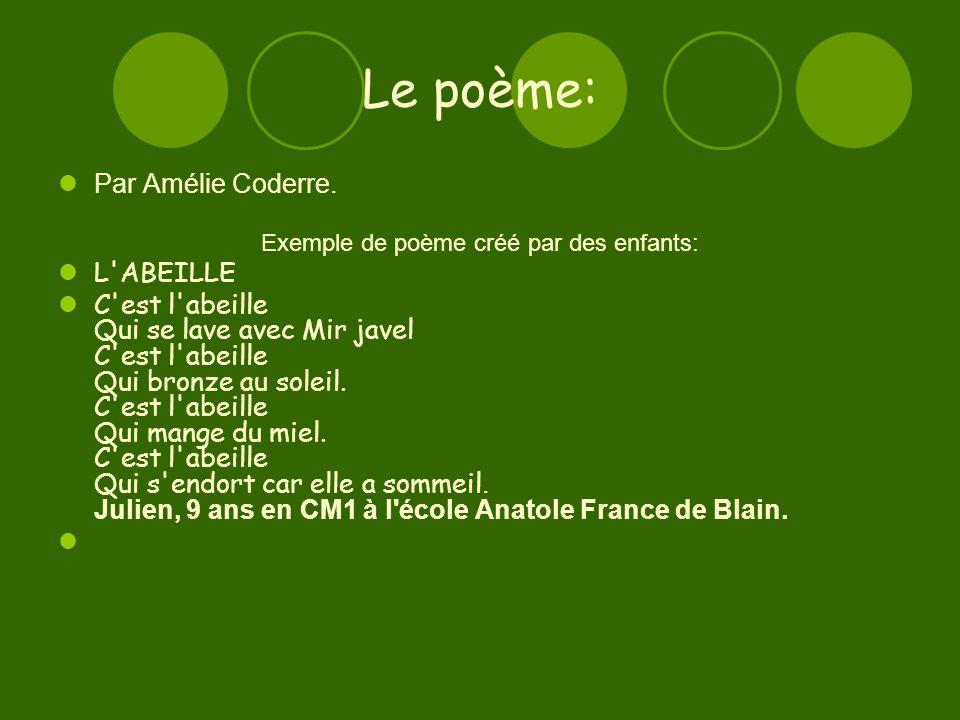Exemple de poème créé par des enfants: