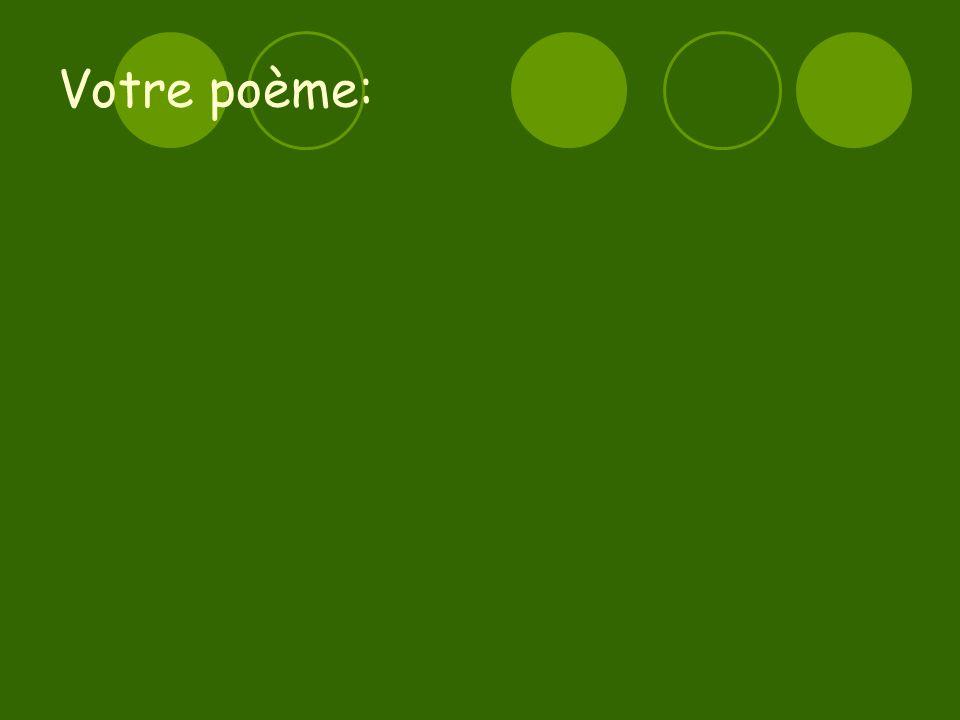 Votre poème: