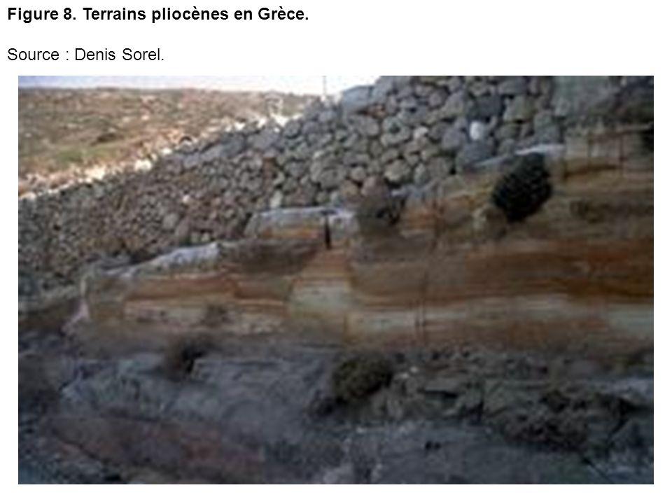 Figure 8. Terrains pliocènes en Grèce.
