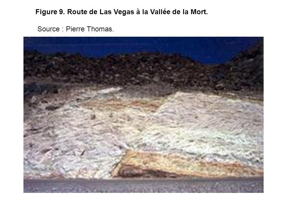 Figure 9. Route de Las Vegas à la Vallée de la Mort.