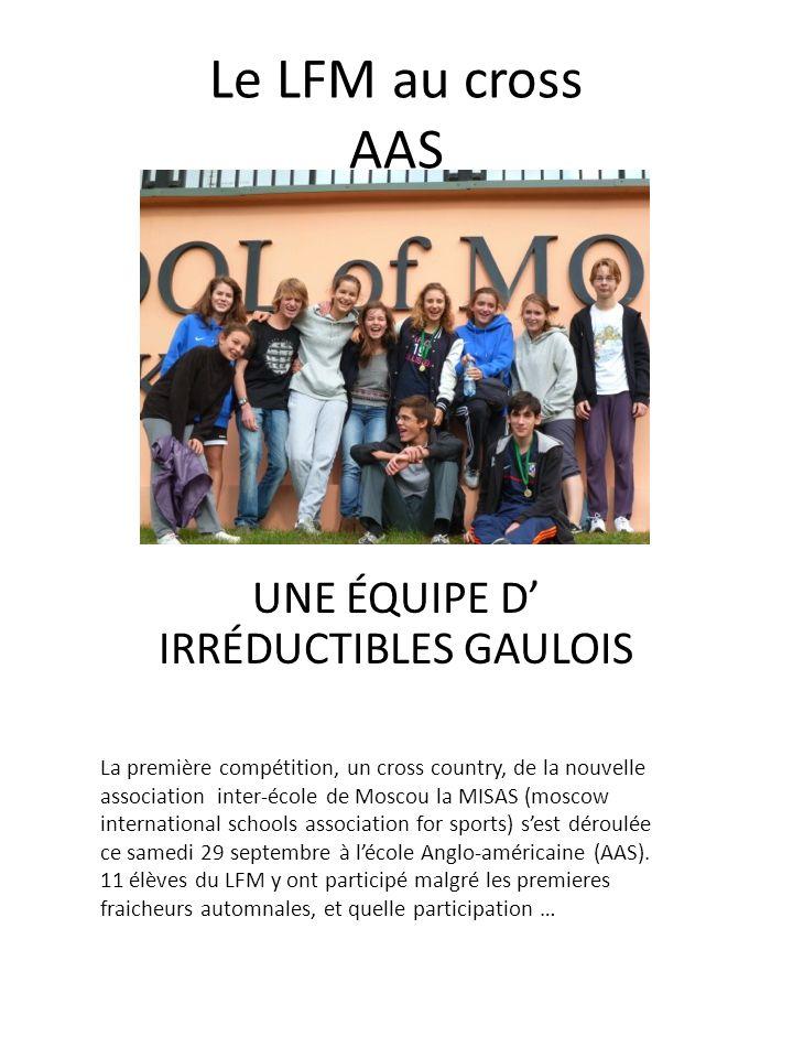 UNE ÉQUIPE D' IRRÉDUCTIBLES GAULOIS