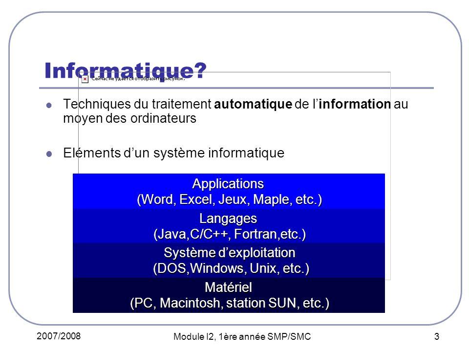 Informatique Eléments d'un système informatique