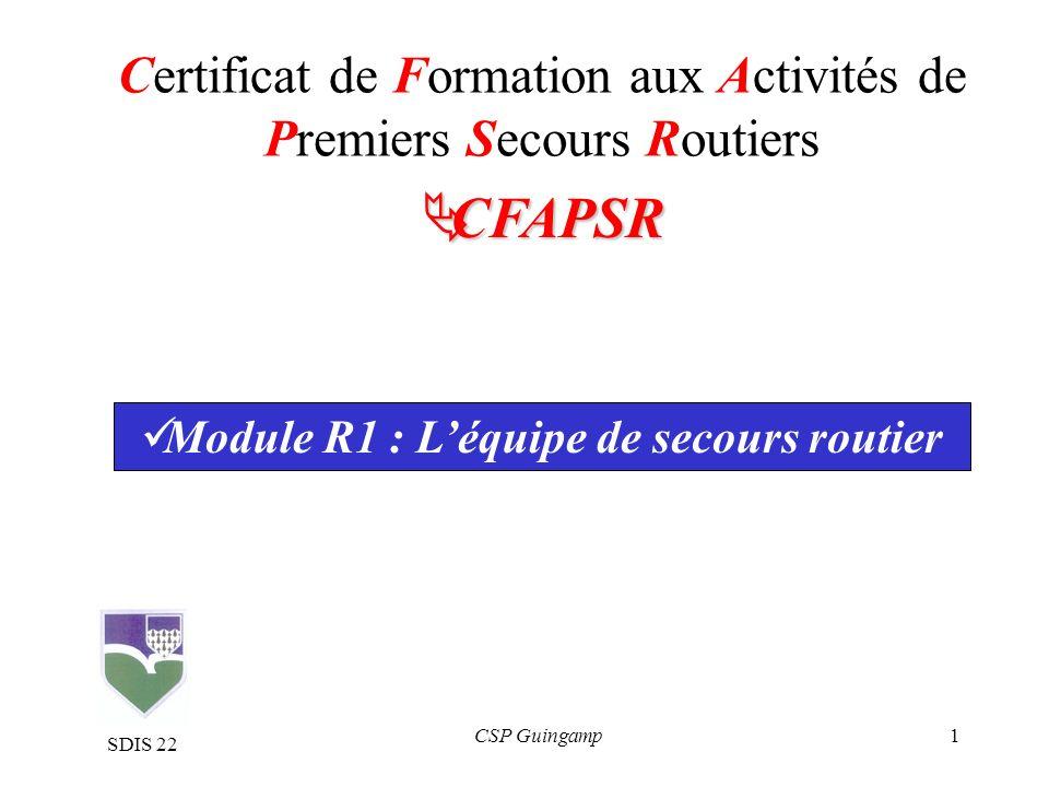 Certificat de Formation aux Activités de Premiers Secours Routiers