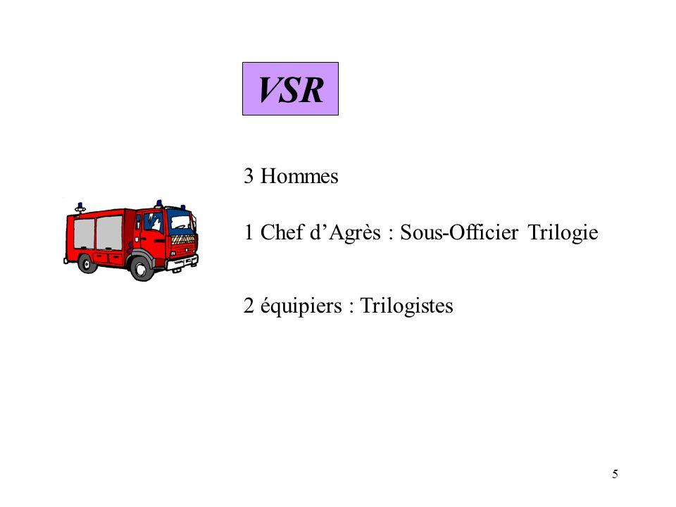 VSR 3 Hommes 1 Chef d'Agrès : Sous-Officier Trilogie