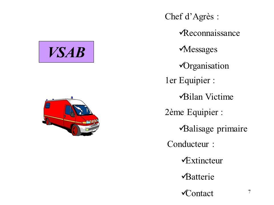 VSAB Chef d'Agrès : Reconnaissance Messages Organisation
