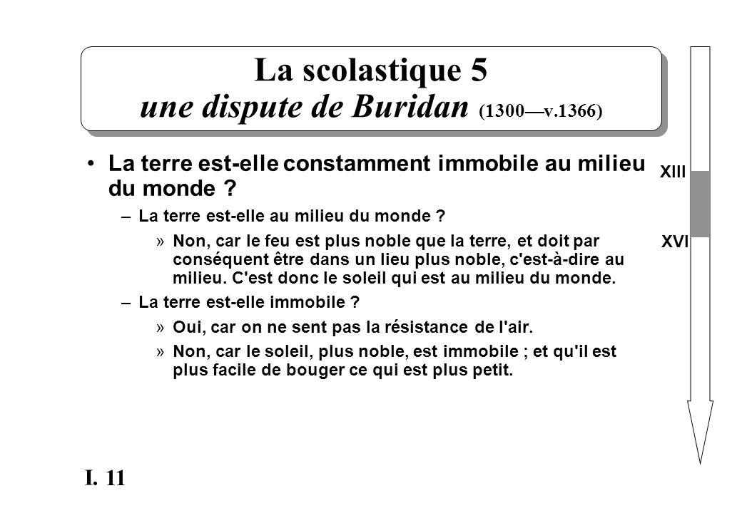 La scolastique 5 une dispute de Buridan (1300—v.1366)