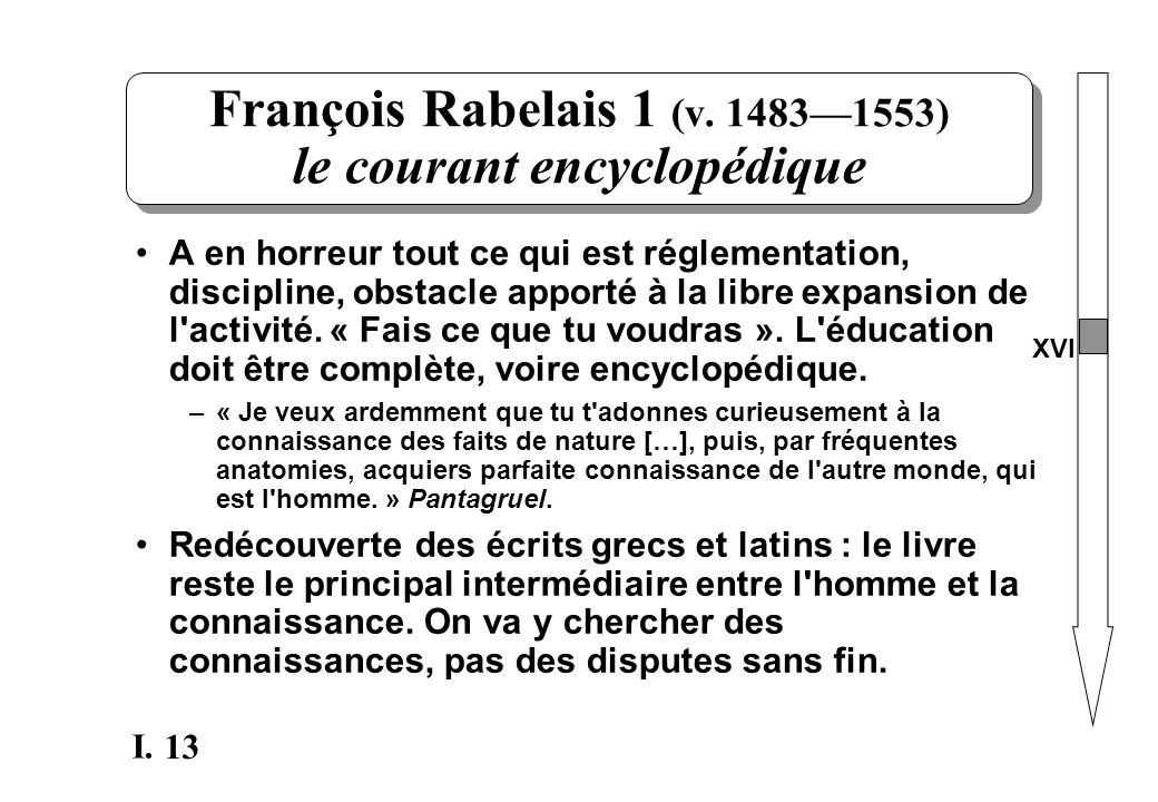 François Rabelais 1 (v. 1483—1553) le courant encyclopédique