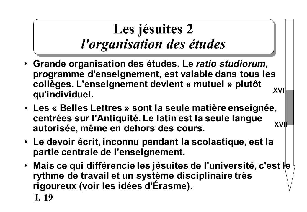 Les jésuites 2 l organisation des études