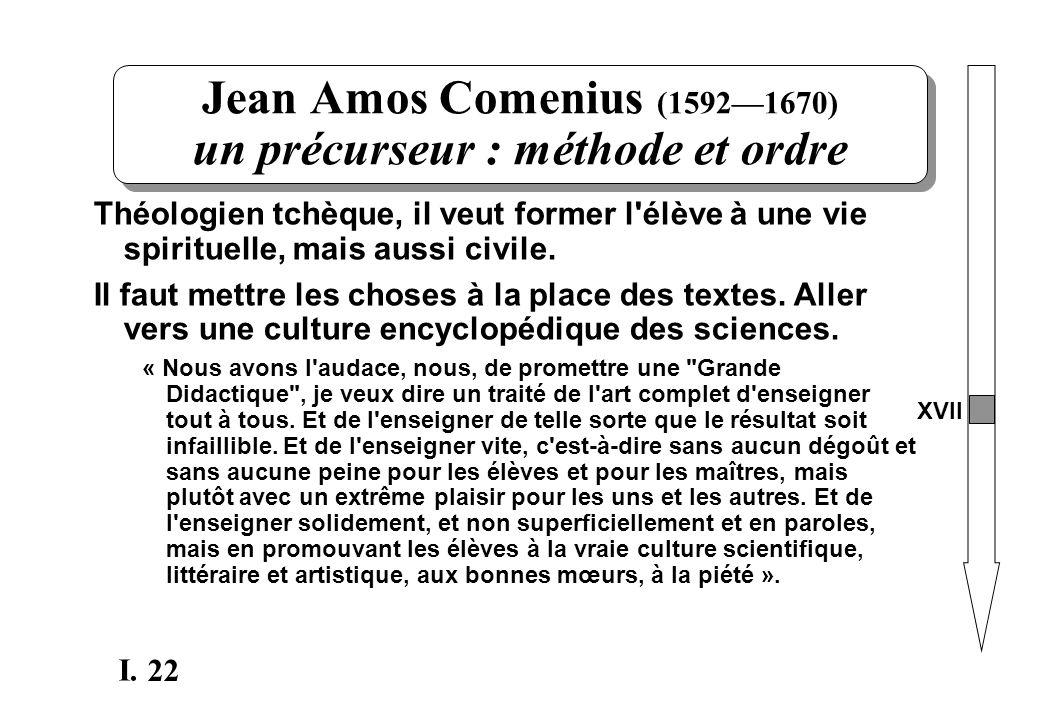 Jean Amos Comenius (1592—1670) un précurseur : méthode et ordre