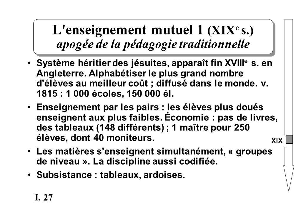 L enseignement mutuel 1 (XIXe s