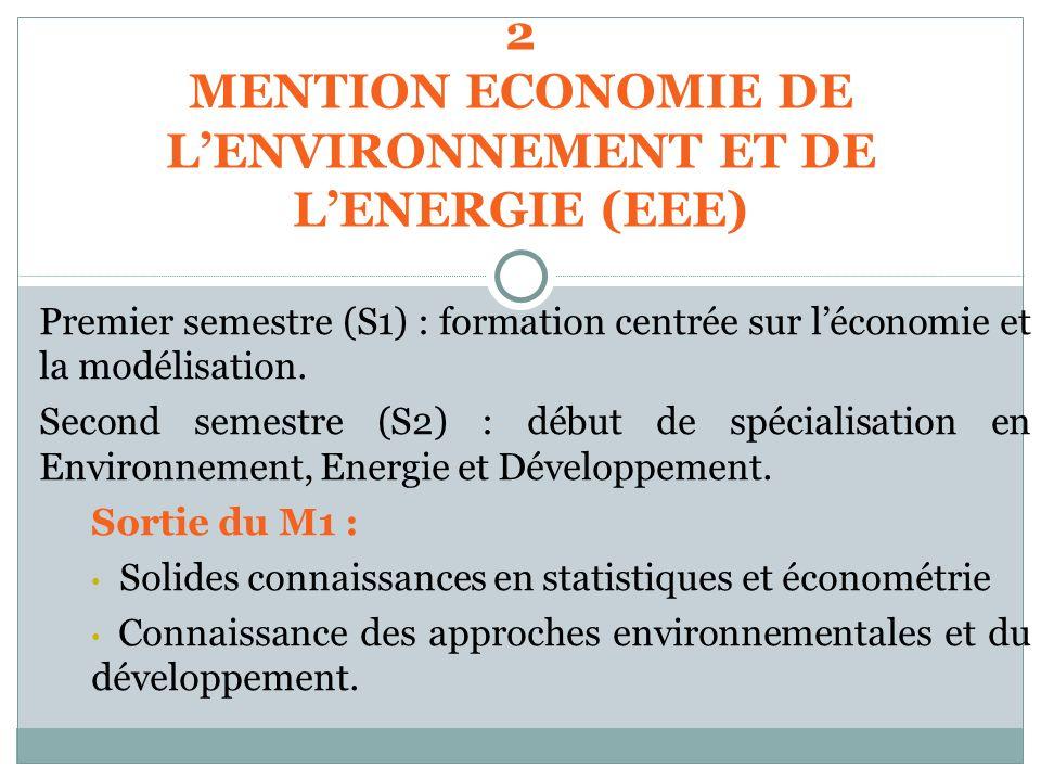 MENTION ECONOMIE DE L'ENVIRONNEMENT ET DE L'ENERGIE (EEE)