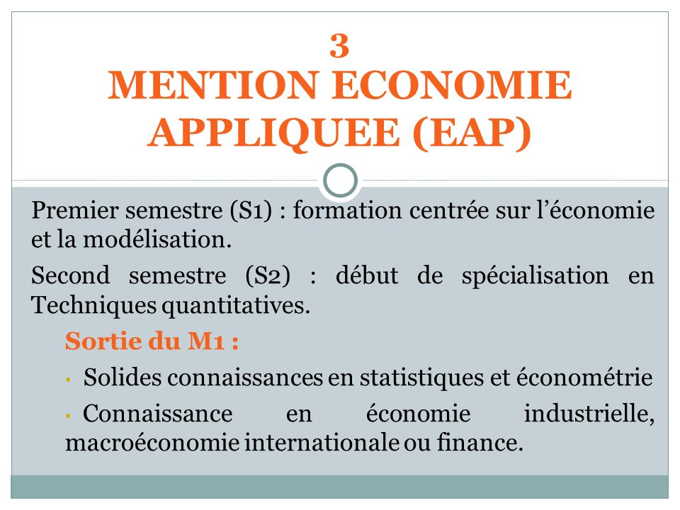 MENTION ECONOMIE APPLIQUEE (EAP)