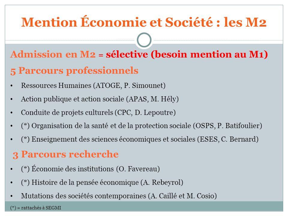Mention Économie et Société : les M2