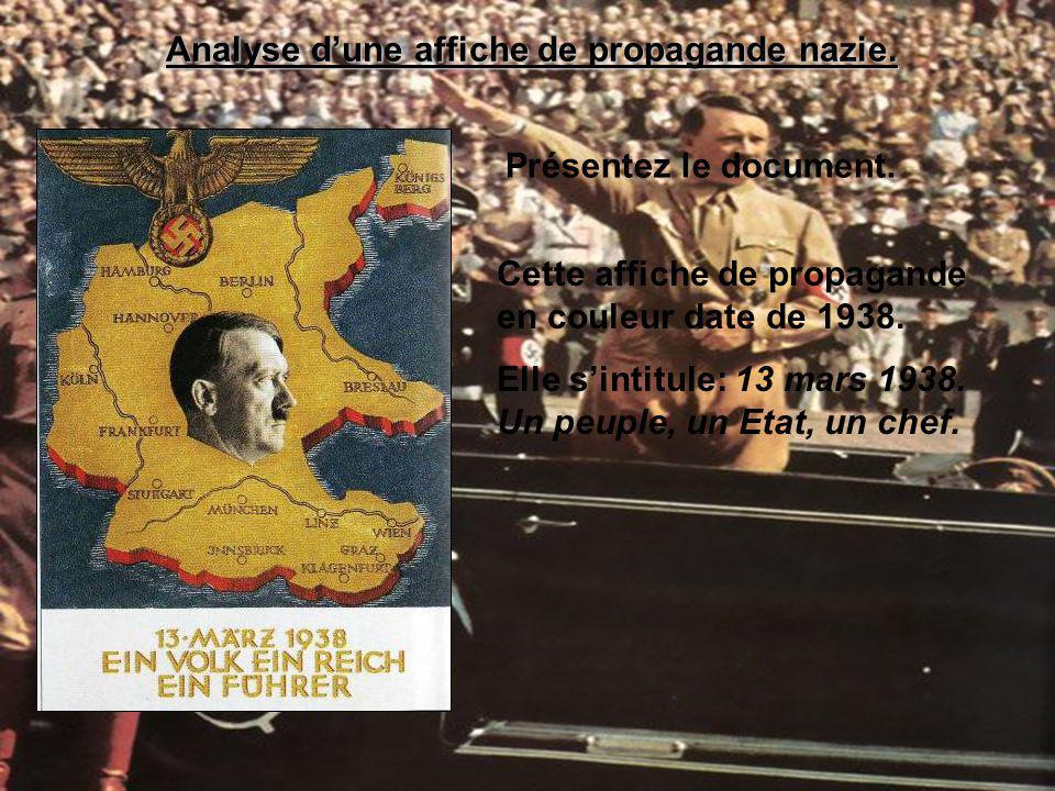 Analyse d'une affiche de propagande nazie.