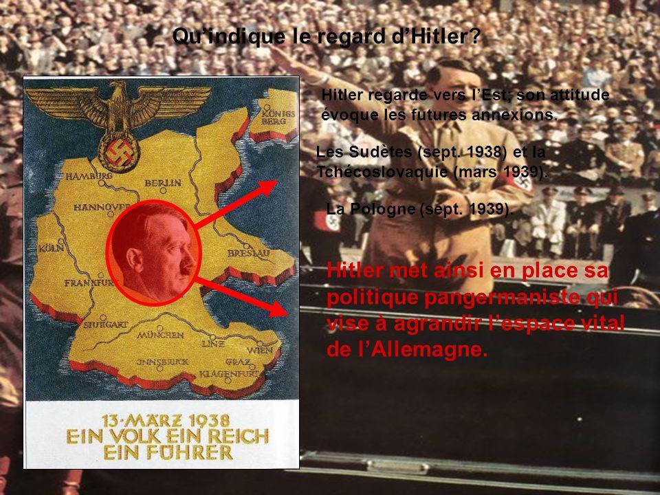 Qu'indique le regard d'Hitler