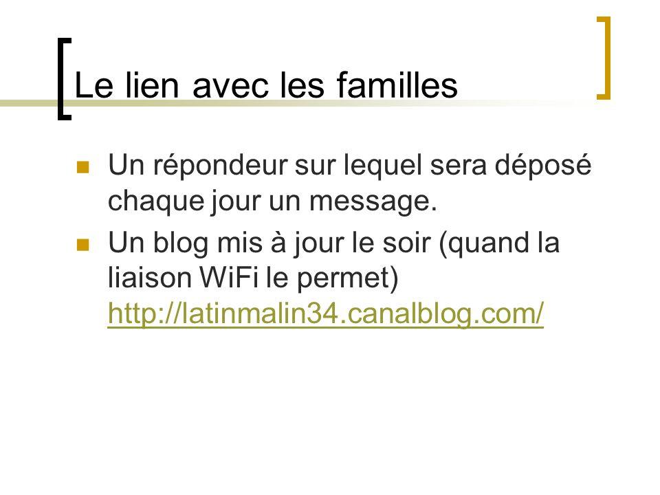Le lien avec les familles
