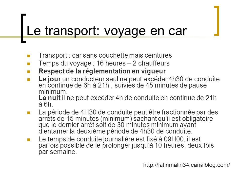 Le transport: voyage en car
