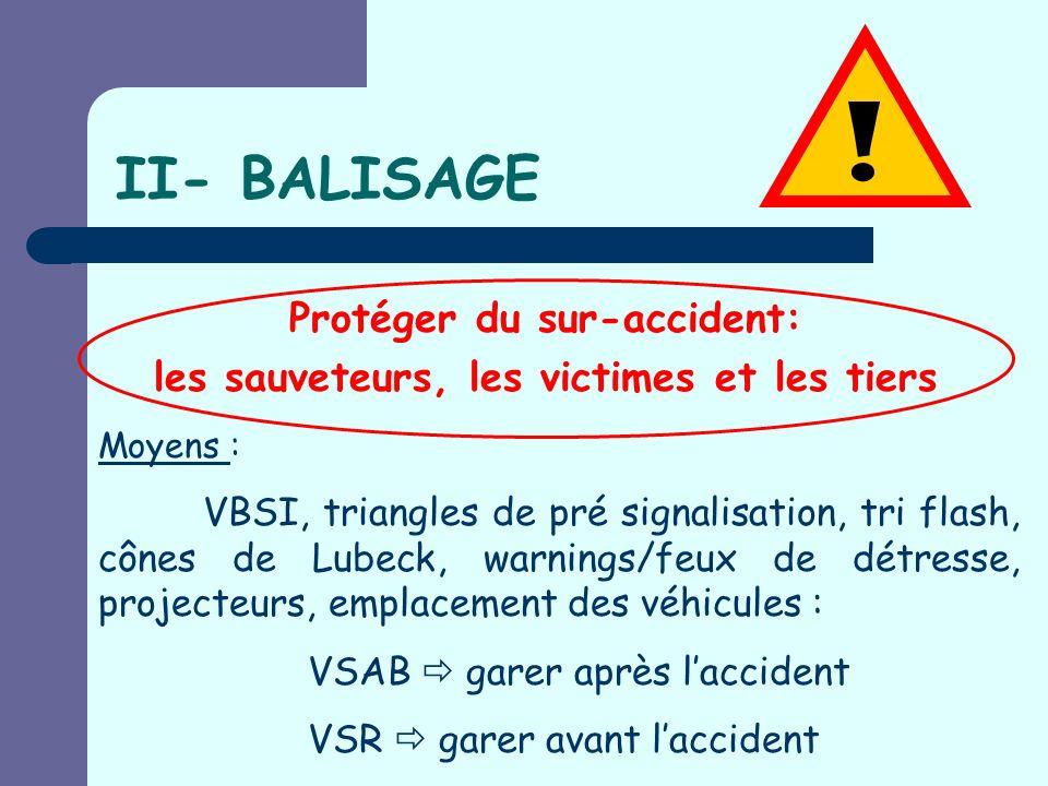 Protéger du sur-accident: les sauveteurs, les victimes et les tiers