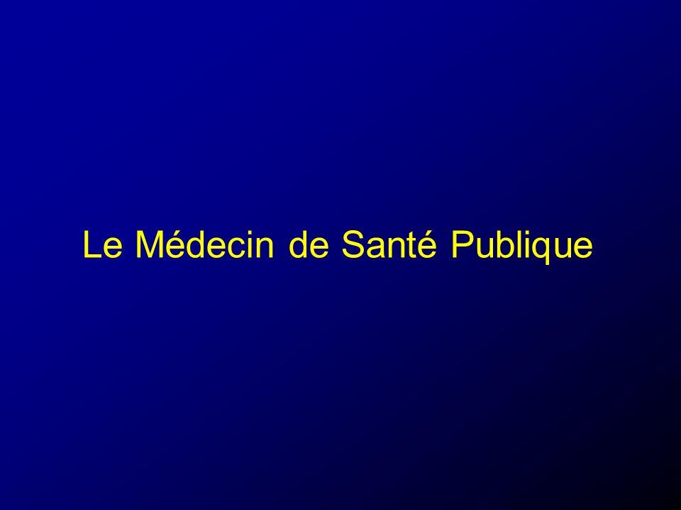 Le Médecin de Santé Publique