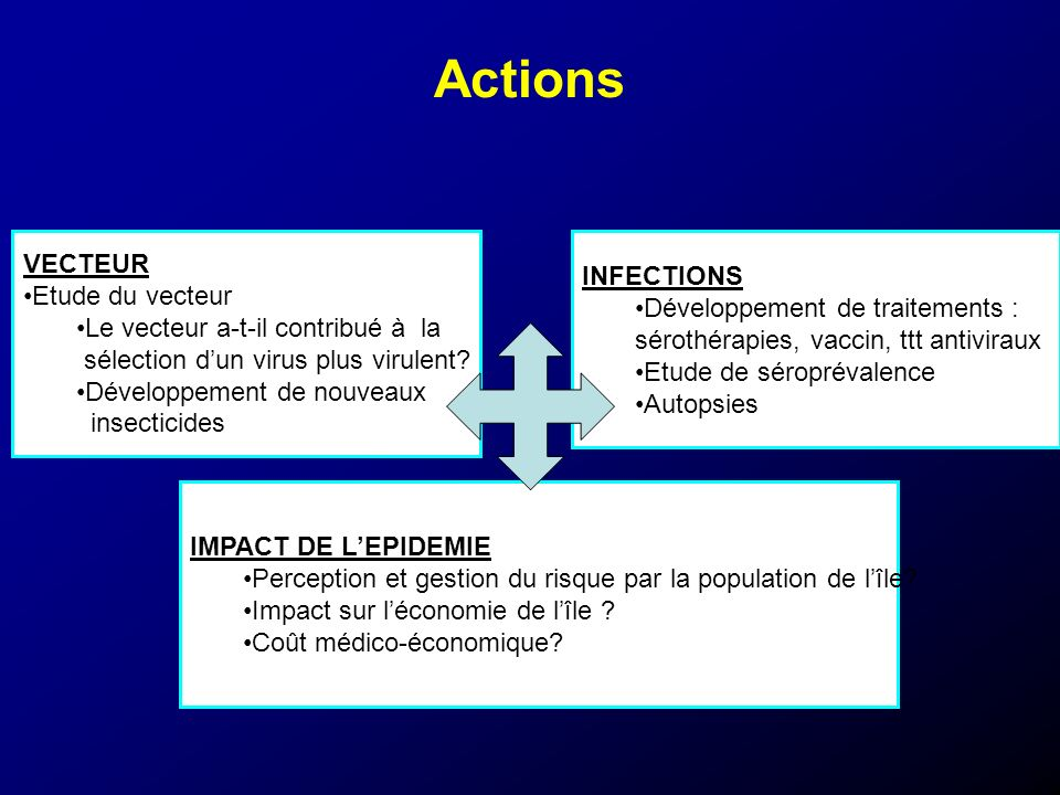 Actions VECTEUR INFECTIONS Etude du vecteur