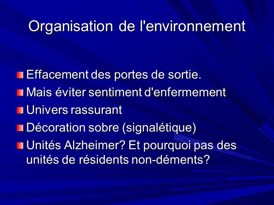Organisation de l environnement