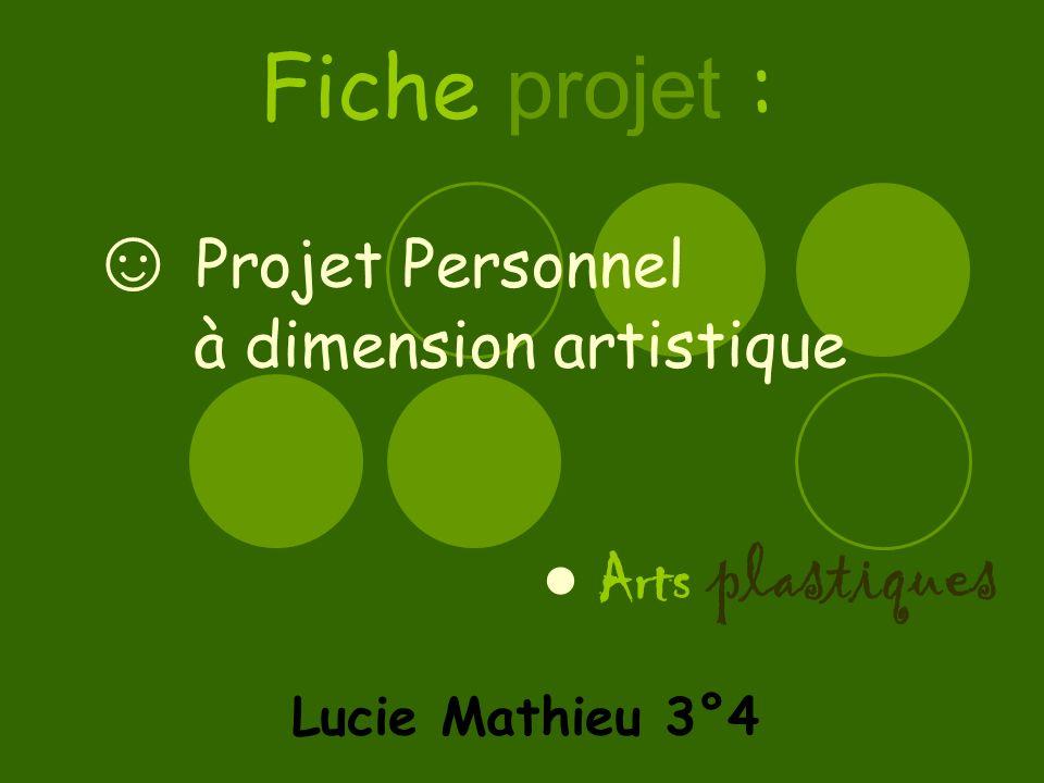 ☺ Projet Personnel à dimension artistique