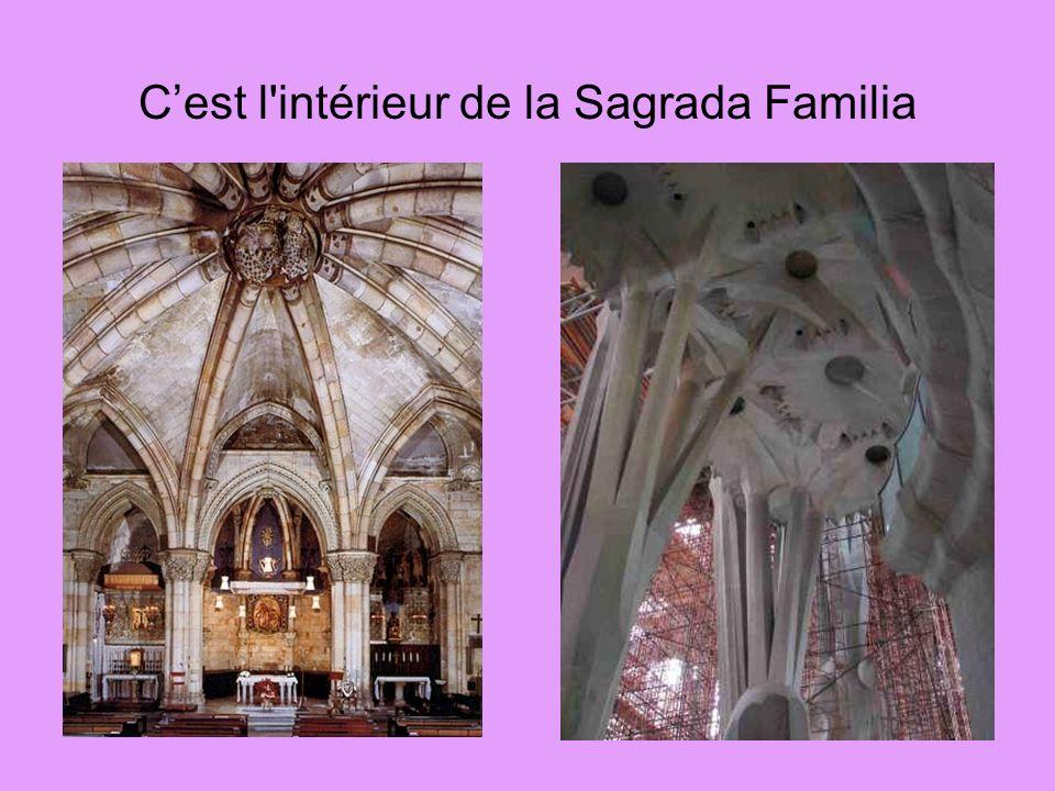 C'est l intérieur de la Sagrada Familia