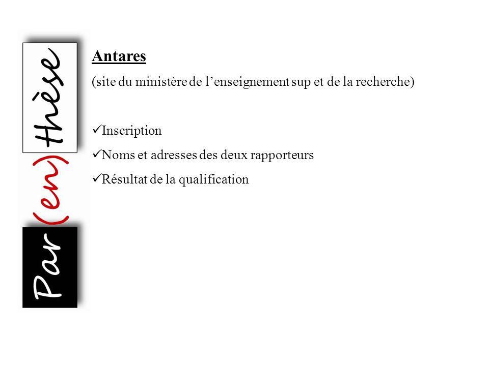 Antares (site du ministère de l'enseignement sup et de la recherche)