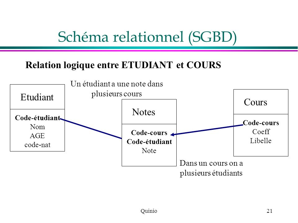 Schéma relationnel (SGBD)