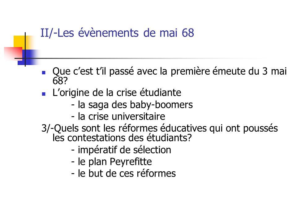 II/-Les évènements de mai 68