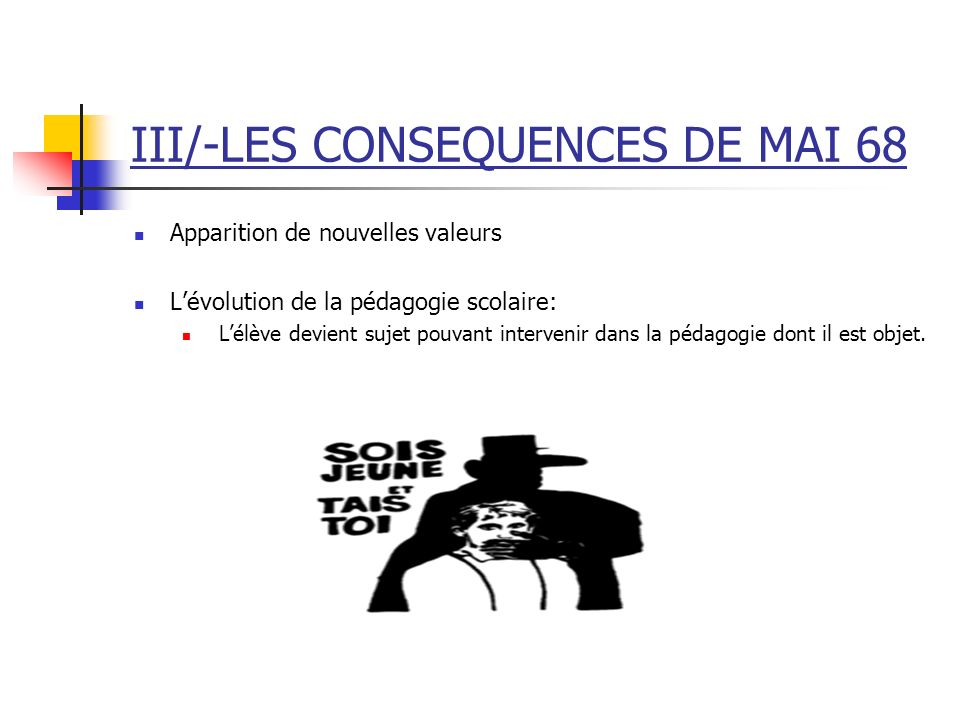 III/-LES CONSEQUENCES DE MAI 68